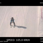 Image from the BMW X-Drive speed trap run at Jungfrau. 105kmh