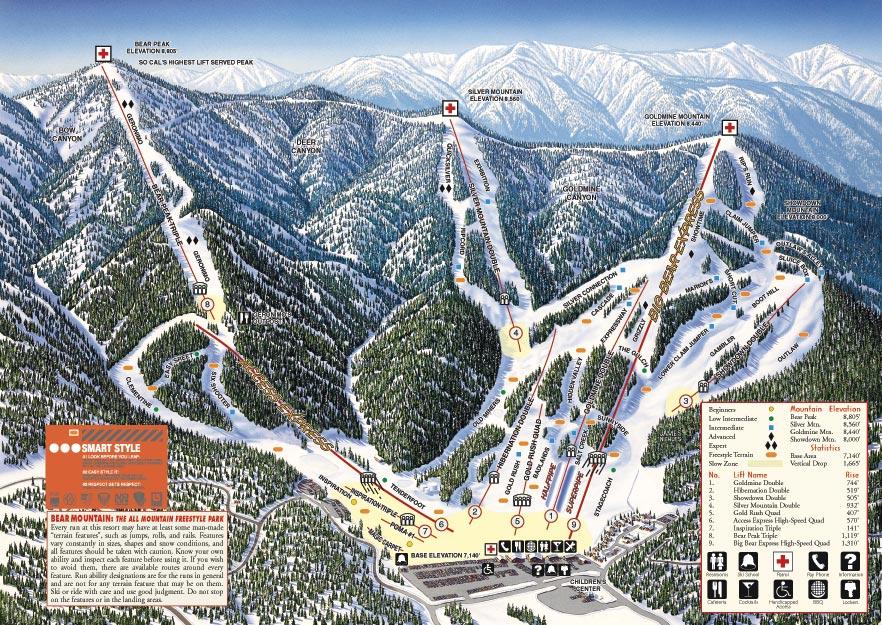 Mammoth Buys Bear Mountain Snow Summit Powpowpowpowpowpow - Mammoth mountain trail map