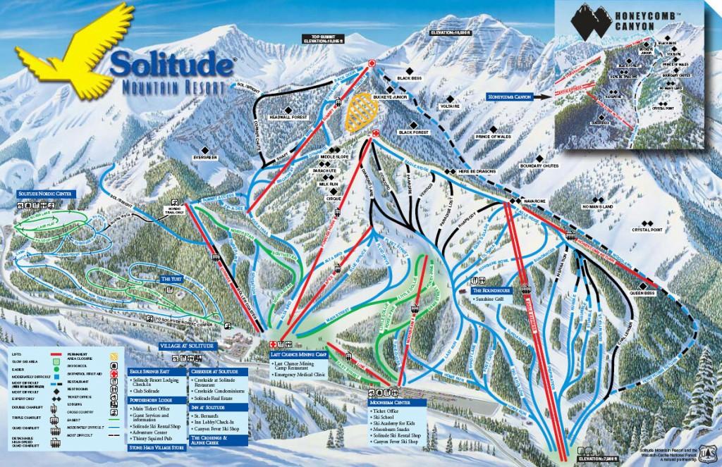 Solitude Mountain Trail Map