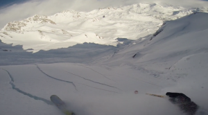 screen capture from Theo Lange avalanche video